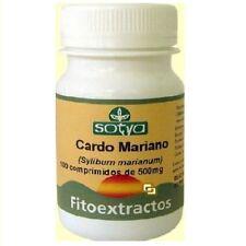CARDO MARIANO 500 MG 100 COMP SOTYA Bilis Higado Desintoxicante