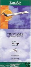 Airline Timetable - Reno Air - 04/04/96  - Intro MD-90 Orange County Flyer (US)