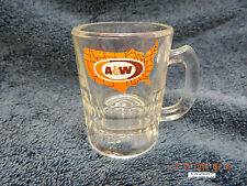 "A&W ROOT BEER MINI GLASS MUG! 3 1/4"" TALL! PREVIOUSLY OWNED & USED! AS IS!"