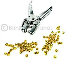 HEAVY DUTY EYELET PLIERS HOLE PUNCH TOOL WITH 300 EYELETS GROMMETS BRASS LEATHER