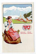 SUISSE SWITZERLAND canton NIEDWALDEN OBWALDEN costume vue unterwalden