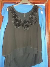 LADIES TOP...ATMOSPHERE...BLACK...PLUS SIZE 20...SLEEVELESS....LAYERED...VGC
