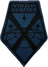 XCOM Vigilo Confido Logo Black & Navy Embroidered Patch Sew/Iron-on 3.5 inches