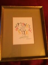 RARE! Picasso Dance of Youth Peace Dove Sun Shabby Chic Small Print Custom Frame