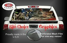Reaper American Flag Eagle Camo Rear Window Graphic Decal Sticker Truck Car SUV