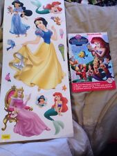 The Little Mermaid Story Book & Wall Stickers. Freepost C66