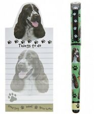 Springer Spaniel Magnetic Fridge Notepad  & Gel Pen Gift Set for Dog Lovers