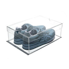 NEW! LUXURY CLEAR ACRYLIC SHOEBOX - DESIGNER LUCITE SHOE STORAGE BOX - MEDIUM