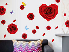 Red rose flowers wall sticker,wall decal  A_FSES