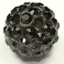 U Pick 10pcs x Top Quality Sparkle Crystal disco ball spacer 10mm beads
