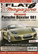 FLAT 6 252 BOXSTER 981 911 SC 997 GT3 996 C4S 356 C CABRIOLET PORSCHE 917-021