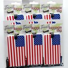6 TRAVEL LUGGAGE TAG AMERICAN USA FLAG SUITCASE BAGGAGE ID LABEL FREE USA S&H