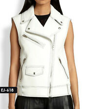 Genuine Soft Lambskin Leather Biker Vest