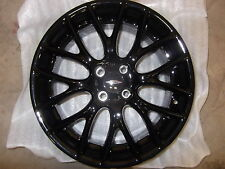 "Mini Cooper JCW 17""  R112 Black Challenge Cross Spoke Wheel Rim OEM"