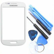 White Outer Screen Glass Lens  for Samsung Galaxy S3 mini i8190 Front Lens replc