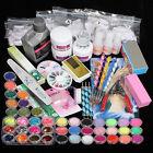 Kit Ricostruzione Unghie Completi 42 Glitter Polvere Acrilico Gel UV Nail Art