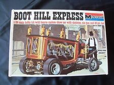 Original!  Monogram Model BOOT HILL EXPRESS HEARSE WITH SKELETON COMPLETE
