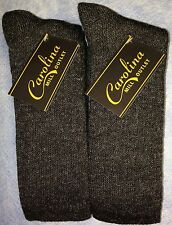 4pr Men's WARM GEAR Merino Wool Boot/Outdoor Socks MARBLED Black/Gray 9-11 MED