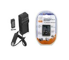 Battery + Charger for Panasonic DMC-FP3R DMC-FP3S DMCTS10A