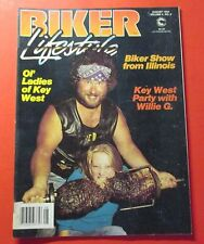 BIKER LIFESTYLE MAGAZINE AUG/1984...OL' LADIES OF KEY WEST...PARTY WITH WILLIE G