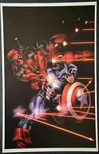 Deadpool Captain America Print Signed by Ed McGuinness