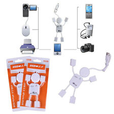 USB 2.0 Portable Cute Human Robot Man Shape 4 Port High-speed Mini Hub