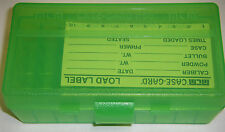 MTM Case Gard™ 50 Round Ammo Box Pistol Flip Top CLEAR GREEN P50-44-16 44 mag