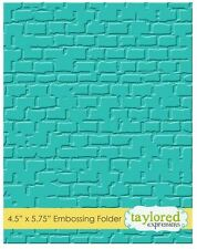 Taylored Expressions ~ A2 Embossing Folder ~ BRICK  Wall, Background  ~ TEEF18