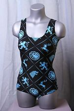 Game of Thrones Swimsuit One Piece - House Sigils/Logos Leotard - Size M