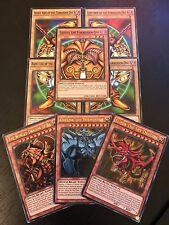 Yu-Gi-Oh EXODIA + EGYPTIAN GOD CARDS OBELISK SLIFER RA - 8 CARD SET+ Extra Bonus