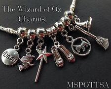 7x The Wizard of Oz European Charm Bracelet Charms Dorothy Red Slippers Toto lot
