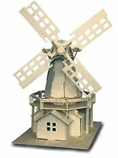 Windmill: Woodcraft Quay Construction Wooden 3D Model Kit P056 Age 7 plus