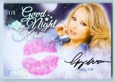 """TIFFANY TOTH """"GOOD NIGHT KISS AUTOGRAPH /5"""" BENCHWARMER DREAMGIRLS PREVIEW 2016"""