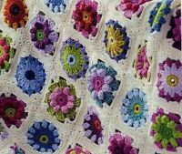 Beautiful Vintage Afghan Blanket Throw Crochet Pattern