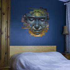 Colourful Graffiti Face Vinyl Wall Sticker for Home Decor / Interior Design /...