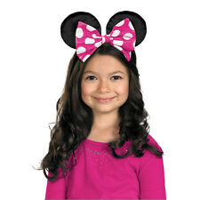 Disney Minnie Mouse Ears Costume with Pink Polka Dot Bow Headband Accessory