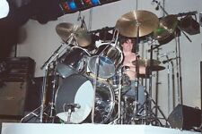 """12""""*8"""" colour concert photo - Don Powell playing with Slade in Birmingham 1978"""