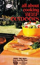 All About Cooking BEEF Outdoors Cookbook 1977  by the IOWA Beef Industry Council