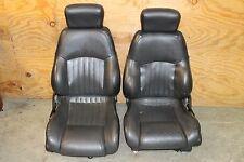 2000-2002 Trans Am Ebony Black Leather Front Seats Set Used OEM