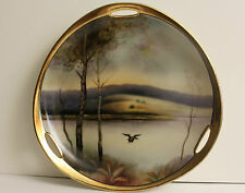 Noritake Plate Hand Painted Landscape ca.1930