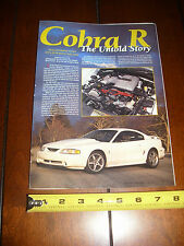 1995 FORD MUSTANG COBRA R  - ORIGINAL 1995 ARTICLE