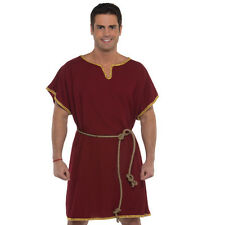 Roman Soldier Tunic Maroon Gold Trim