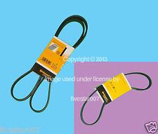 2 OEm Serpentine Drive Belt kit A/C + Alternator Water Pump for BMW 745i 745Li