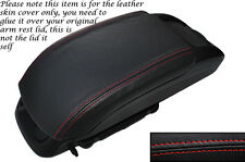 RED STITCH LEATHER ARMREST SKIN COVER FITS VAUXHALL OPEL ZAFIRA C 2012-2014