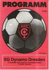 OL 88/89  HFC Chemie - SG Dynamo Dresden