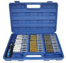 38pc Industrial Wire Brush Set Brushes Long Reach Round Tube Automotive CZWW38P