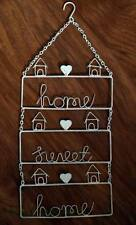 Home Sweet Home Sign Plaque Wall Art Heart Vintage Shabby Chic Cream Retro Gift