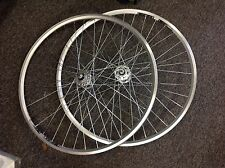Fixie 700c Wheels Sealed Bearing Hubs Pair Silver Rims 36H