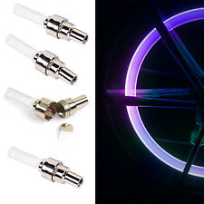 4x Bicycle Bike Color changing Wheel Tire Light Spoke Lamp LED Valve Cap Cycling