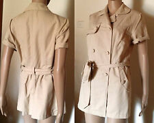 PORTMANS Size 12 Beige Short Sleeve Trench Jacket